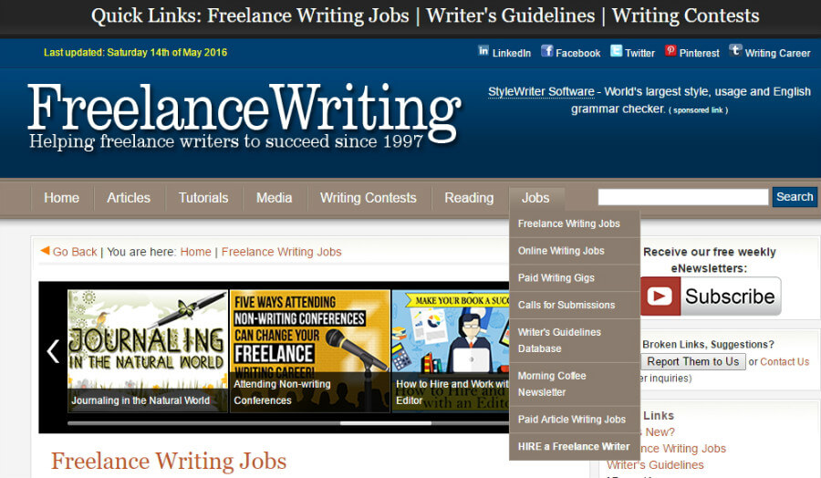 freelance article writing jobs We've put together a list of 17 freelance writing jobs for beginners  this article  details the beginner writing jobs available to you and what you.