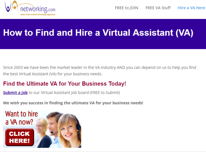 va networking - Real Virtual Assistant Jobs