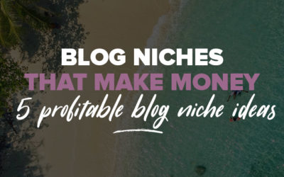 Blog Niches That Make Money: 5 Profitable Blog Niche Ideas (Examples Included)