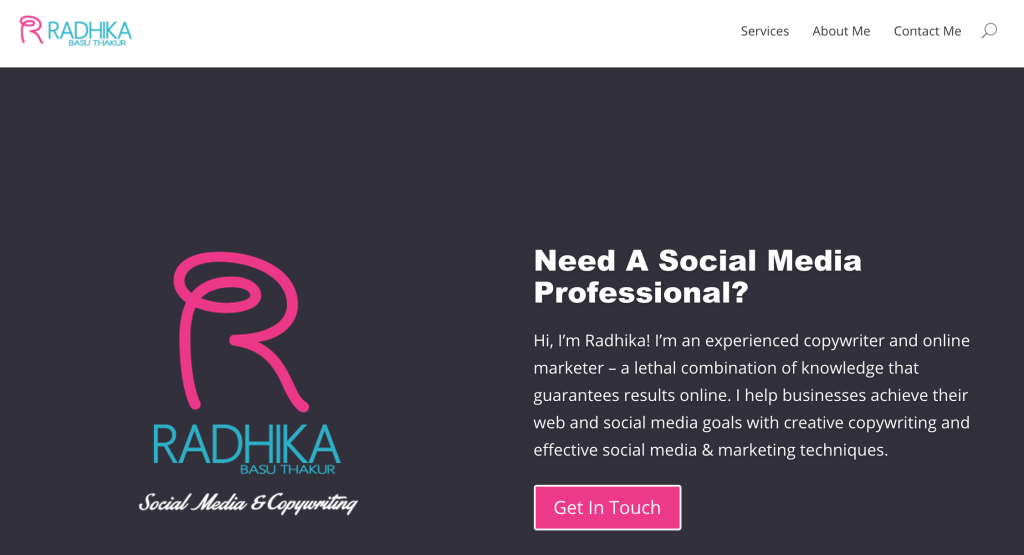 radhika basuthakur website