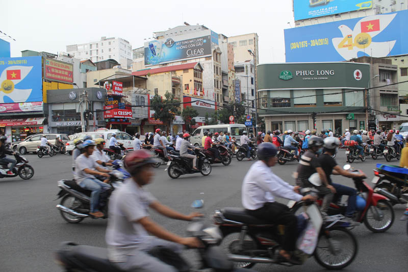 Driving a scooter saigon