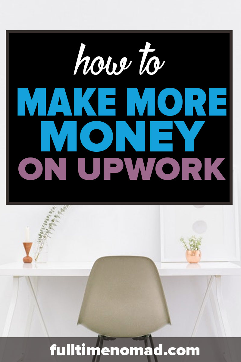 Wondering how to make money on Upwork? Our advice: find a niche. See why a freelancing niche and doing less is actually going to make you more money. | FulltimeNomad.com