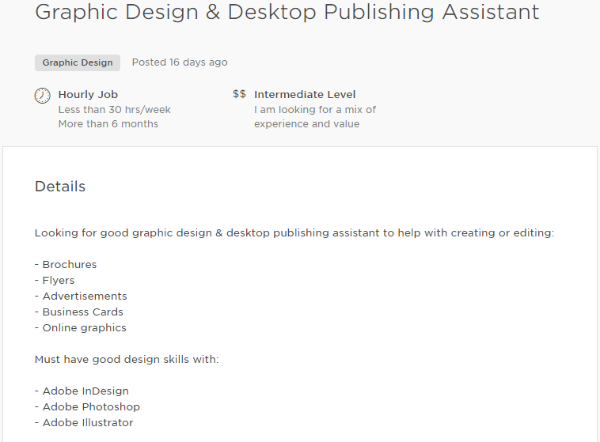 upwork proposal job ad