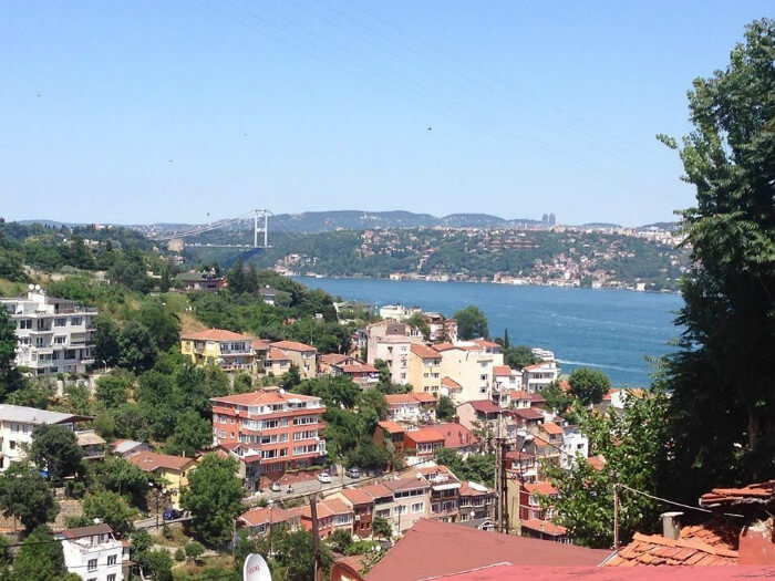 The view from the European side of Istanbul on a clear, spring day.