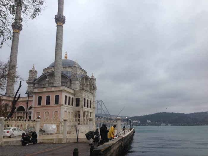 The newly-refurbished Ortakoy Mosque, one of the most famous mosques in all of Istanbul.