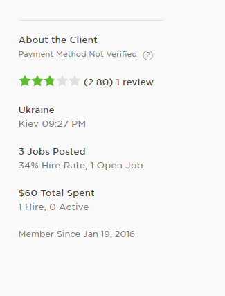 Upwork job success score