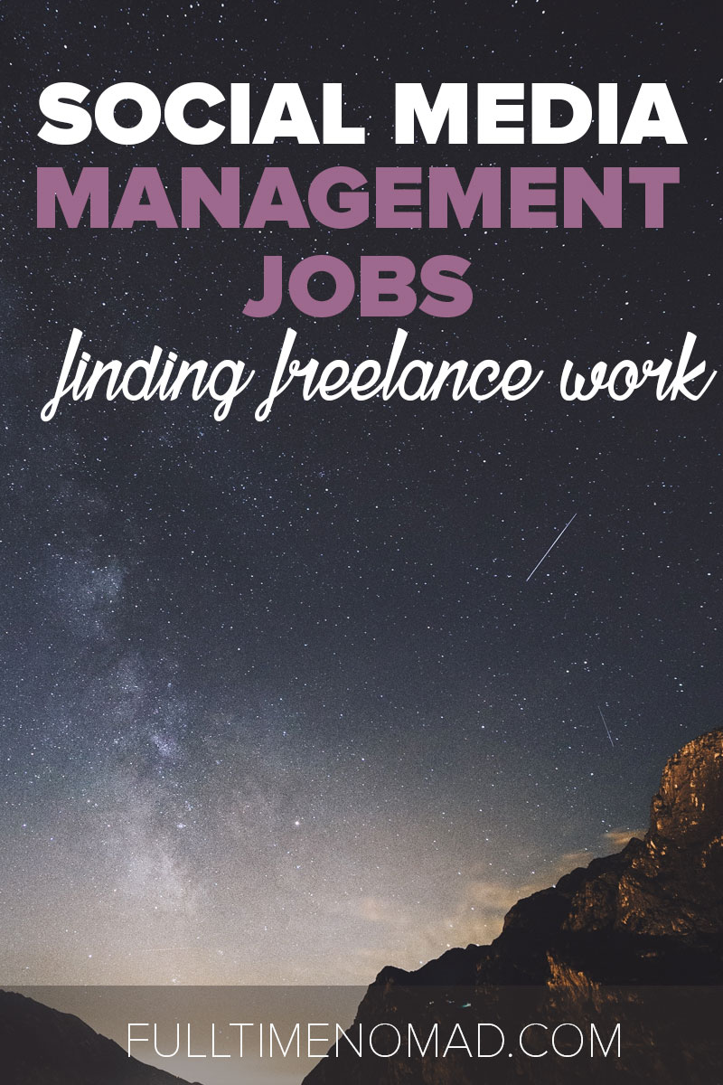 Look for freelance social media management jobs? Check out our list of resources to help you find social media marketing clients. | FulltimeNomad.com