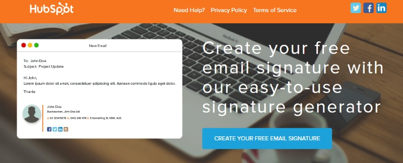 email signatures for freelancers